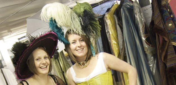 Girls in costume for WNO scheme