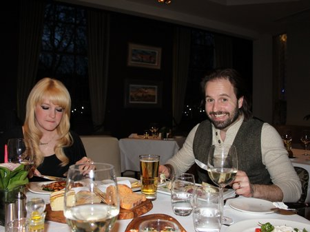 Alfie and Lauren enjoy an Italian Meal