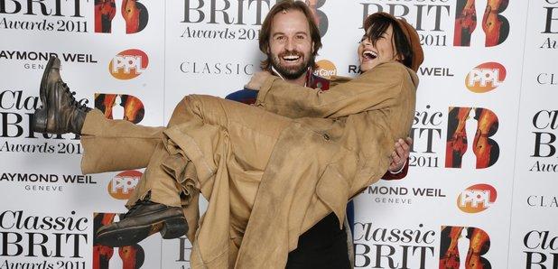 Alfie Boe and Natasha Bark at the BRIT Awards 2011