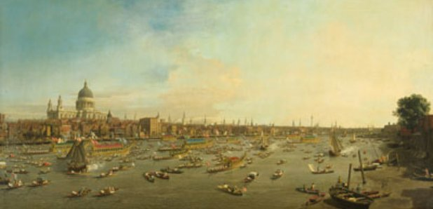 Canaletto's painting of the Thames