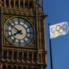 Big Ben Olympic Flag
