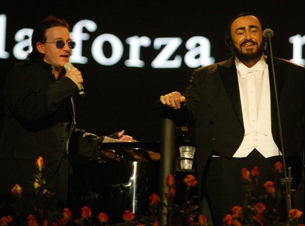 Pavarotti and Bono