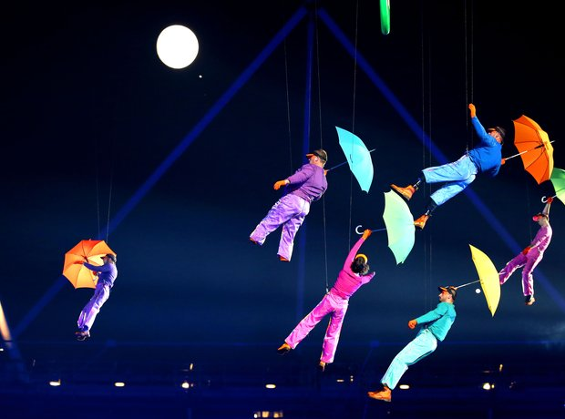 The 2012 Paralympics Opening Ceremony, umbrellas