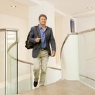 Alan Titchmarsh arrives at Global Radio