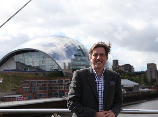 Jamie Crick on Millenium Bridge