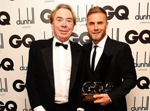 Andrew Lloyd Webber and Gary Barlow at GQ awards