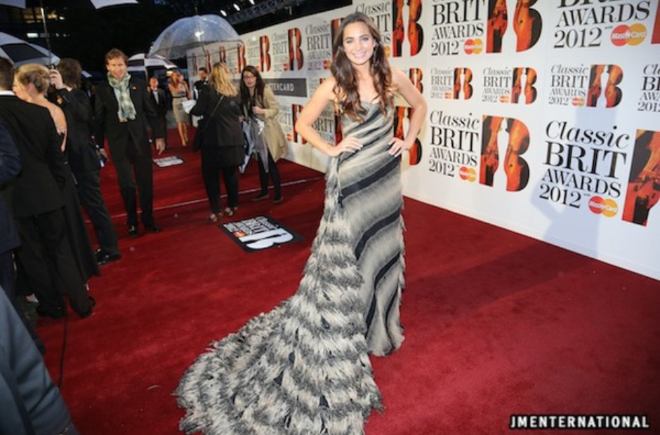 Laura Wright attends the Classic BRIT Awards 2012