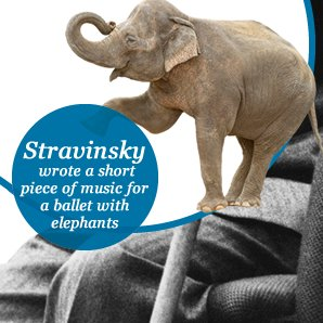 Stravinsky wrote a short piece of music for a ball