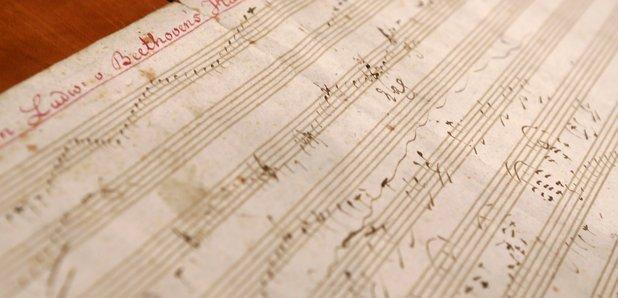 Manuscript music Beethoven