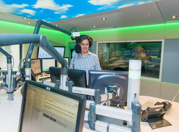 Jamie Crick Classic FM studio