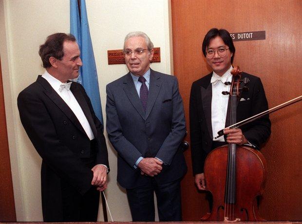 Charles Dutoit United Nations Yo-Yo Ma Perez de Cuellar