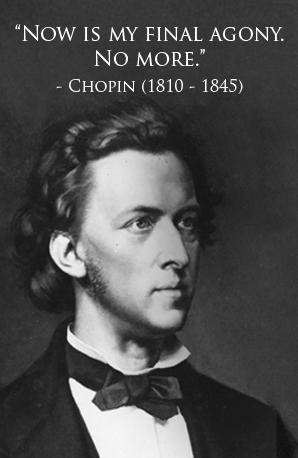 Chopin's last words