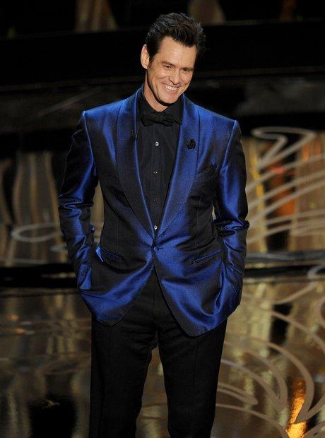 Jim Carrey Oscars 2014 on stage