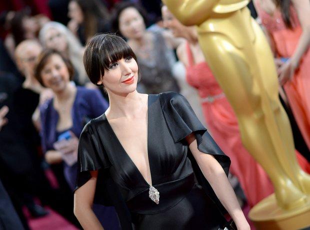 Karen O at the Oscars 2014 red carpet