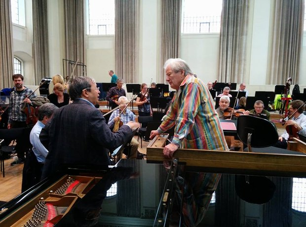 Marriner Perahia rehearsal Henry Wood Hall