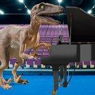 Velociraptor plays the piano