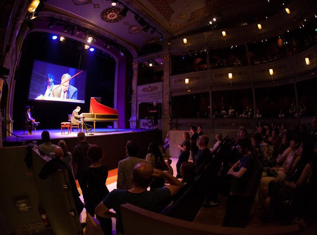 Mahan Esfahani and Avi Avital at the Bristol Proms