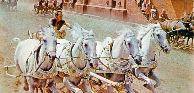 Ben-Hur chariot race Charlton heston