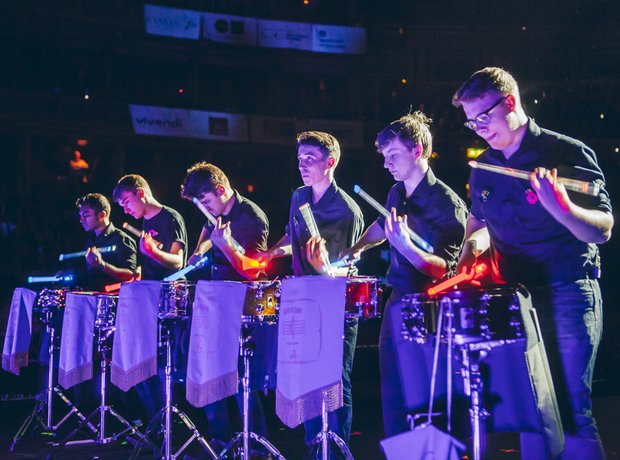 Beckfoot Drumline Performance MFY School Proms 201
