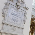 Plaque marking the pillar holding Chopin's heart