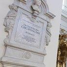 Plaque marking the pillar holding Chopin's heart