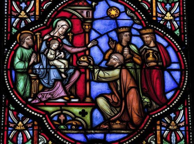 Three kings magi stained glass nativity epiphany