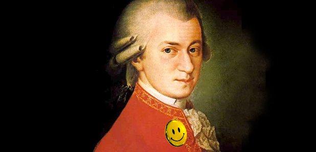 Mozart happy smiley face