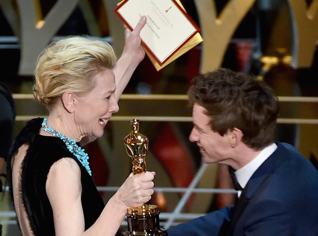 Eddie Redmayne and Cate Blanchett