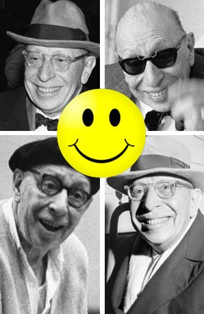 Igor Stravinsky looking happy