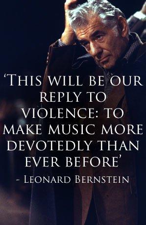 Leonard Bernstein peace quote