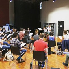 Genesis Sixteen rehearsal