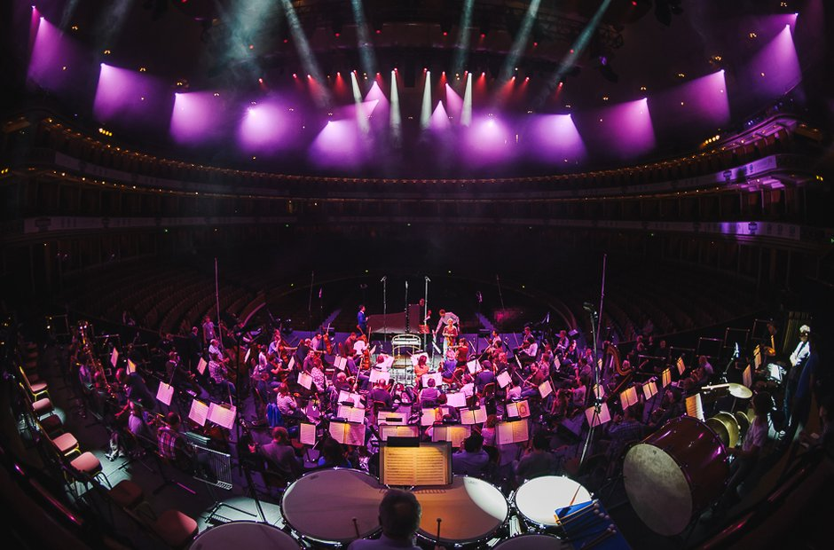 Rehearsals during classicfm live 2015
