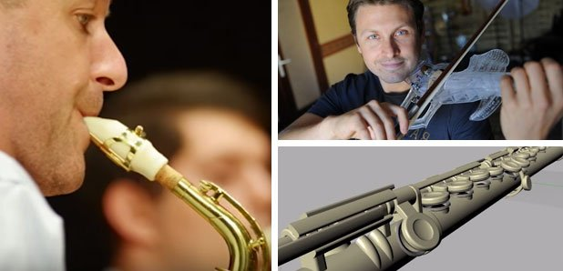 3D printed instruments, including saxophone