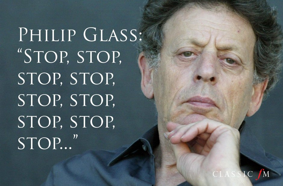 Great composers advice Glass