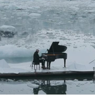 Einaudi performs on iceberg in Arctic