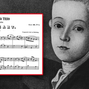 mozart's first composition