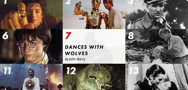 Movie Music Hall of Fame chart screengrab