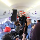 Aled Jones singing on a plane Walking in the Air