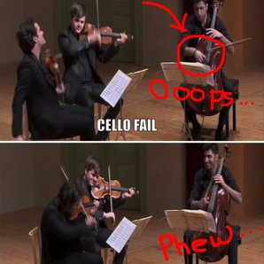 Cello bow fail
